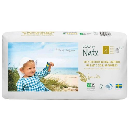 Naty подгузники Eco 4 (7-18 кг) 44 шт., Подгузники  - купить со скидкой