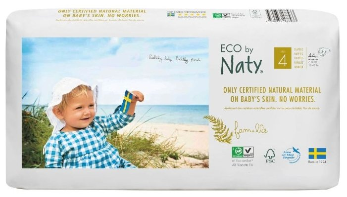 Naty подгузники Eco 4 (7-18 кг) 44 шт.