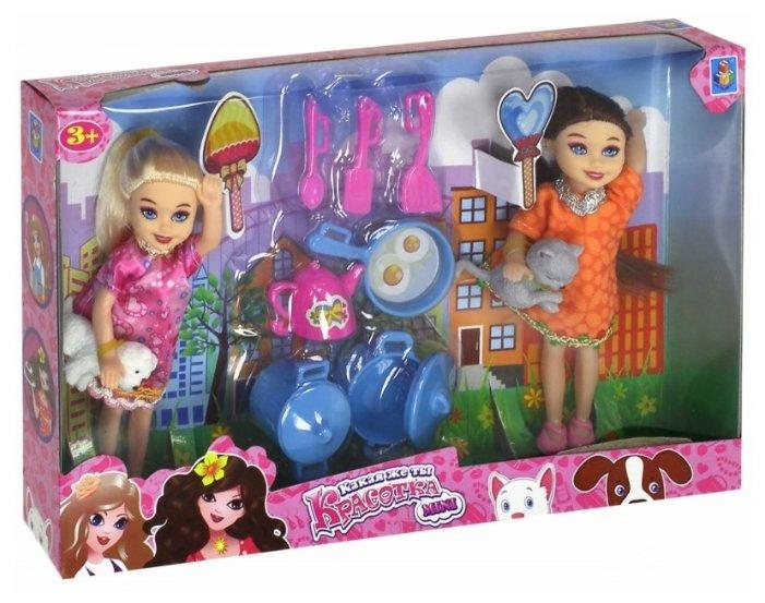 Набор кукол 1 TOY Красотка мини, 13 см, Т10174