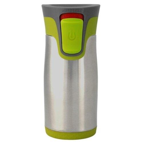 Термокружка Contigo Aria, 0.3 л серебристый/зеленый