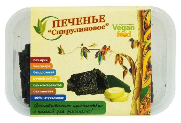 Печенье Vegan food Спирулиновое, 100 г