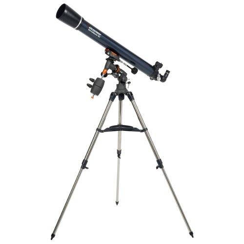 Телескоп Celestron AstroMaster 90 EQ синий/серебристый цена 2017