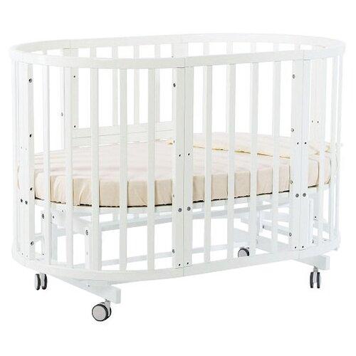 Купить Кроватка Nuovita Nido Magia 5 в 1 (трансформер), поперечный маятник белый, Кроватки