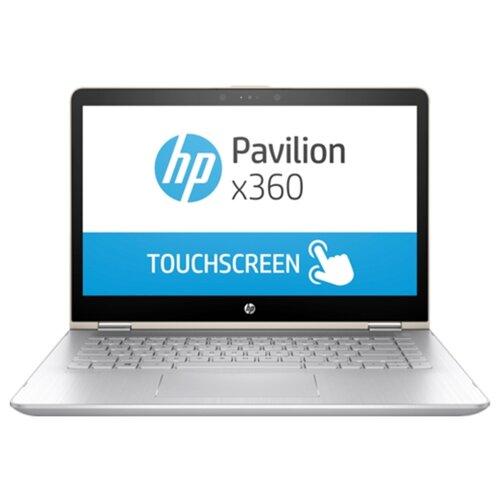 Ноутбук HP PAVILION 14-ba104ur x360 (Intel Core i5 8250U 1600 MHz/14/1920x1080/6Gb/1128Gb HDD+SSD/DVD нет/NVIDIA GeForce 940MX/Wi-Fi/Bluetooth/Windows 10 Home) 2PQ11EA шелково-золотистый/серебристый ноутбук hp envy x360 15 cp0007ur 4tu01ea серебристый