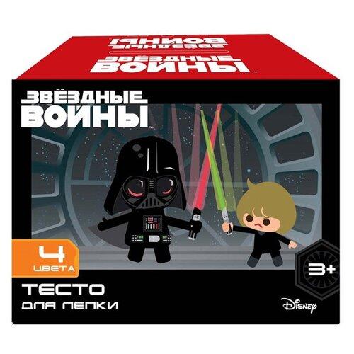 Купить Масса для лепки CENTRUM Звездные войны 4 цвета (87699), Пластилин и масса для лепки