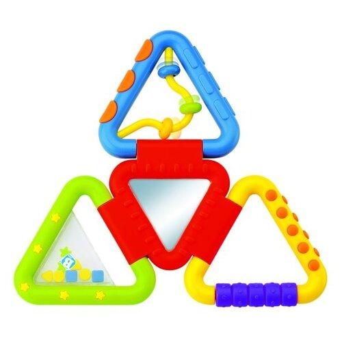 Развивающая игрушка B kids Веселые треугольнички зеленый/голубой/красный/желтый