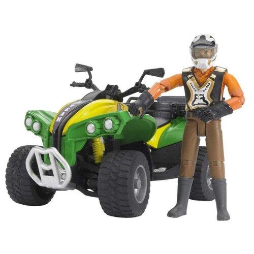 Купить Квадроцикл Bruder с гонщиком (63-000) 1:16 16 см, Машинки и техника