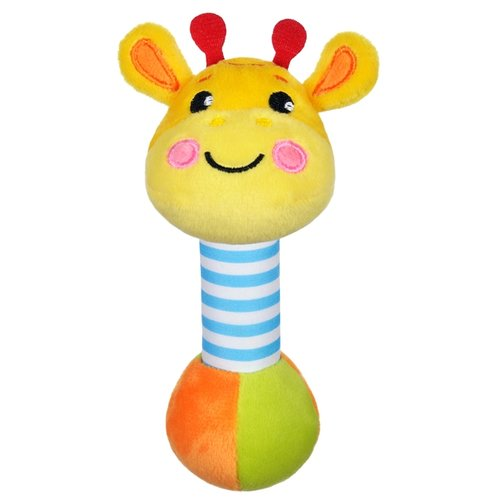 Купить Погремушка Жирафики Жирафик 939510 желтый/оранжевый/зеленый, Погремушки и прорезыватели