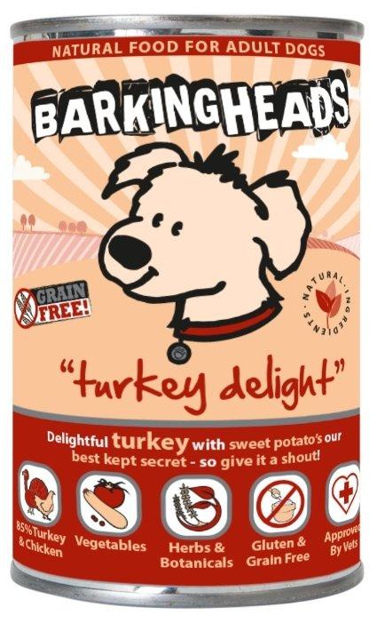 Корм для собак Barking Heads Консервы для собак с индейкой Бесподобная индейка