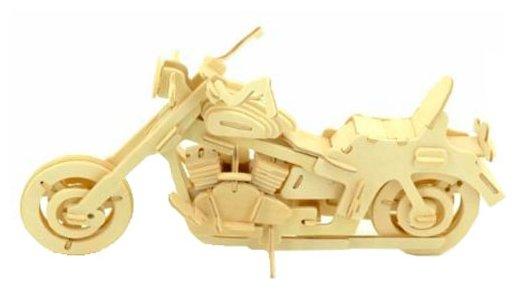 Сборная модель Мир деревянных игрушек Байкерский мотоцикл 2 (П020),,
