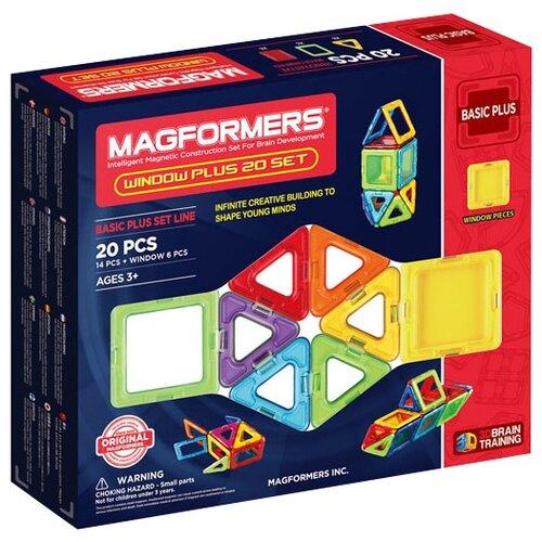 Купить Магнитный конструктор Magformers Window Basic Plus 715001-20, Конструкторы