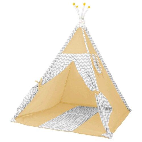 Палатка Polini Зигзаг желтый