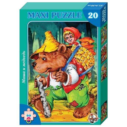 Купить Пазл Десятое королевство Макси Маша и медведь (00192), 20 дет., Пазлы