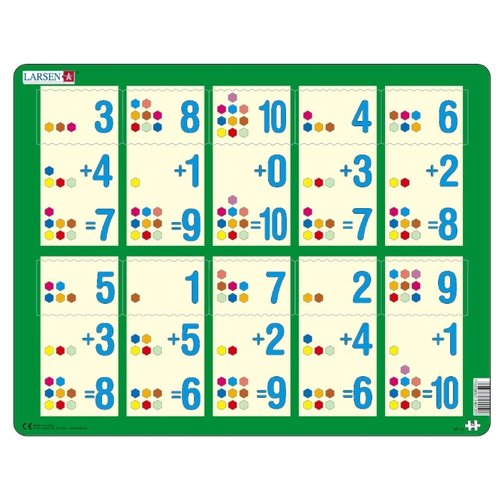 Купить Рамка-вкладыш Larsen Математика Сложение 1-10b (AR12), 10 дет., Пазлы