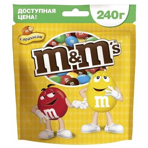 Драже M&M's Peanut в шоколадной глазури, с арахисом, 240 г фото