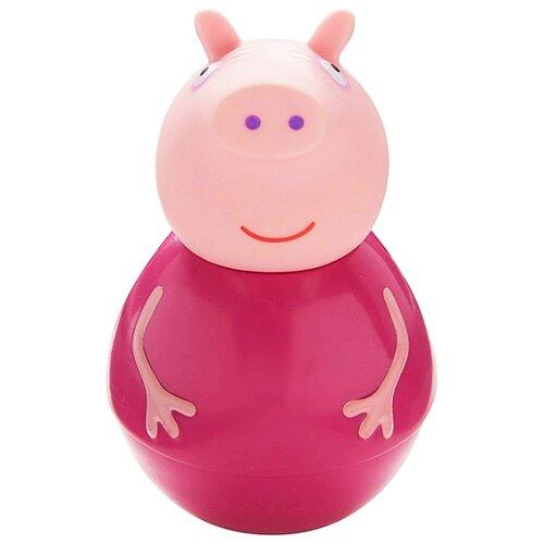 Купить Неваляшка РОСМЭН Бабушка Пеппы (28799) 11 см розовый, Неваляшки