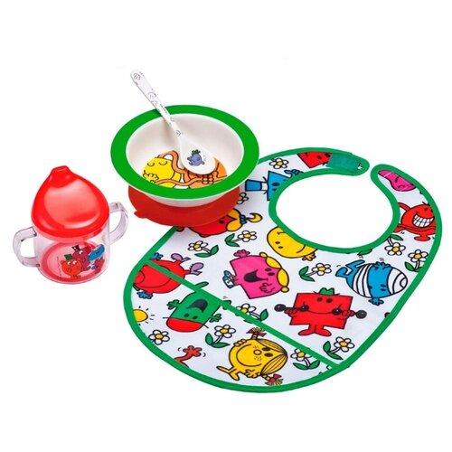 Фото - Комплект посуды Petit Jour Paris Monsieur Madame (MR910E), зеленый/красный посуда petit jour набор детской посуды barbapapa ba964c