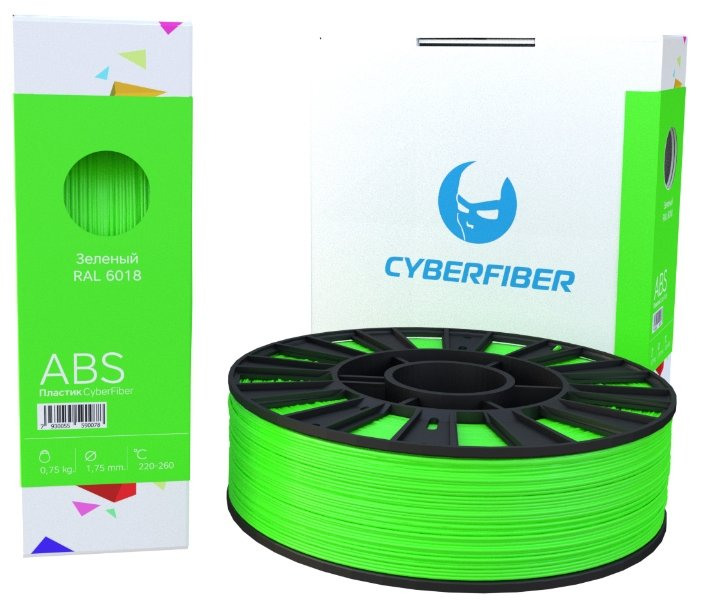 ABS пруток Cyberon 1.75 мм зеленый