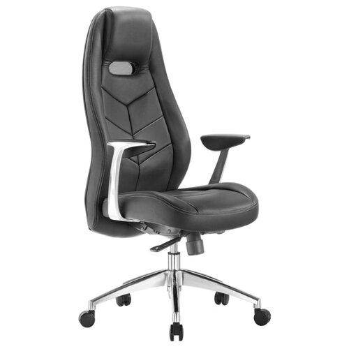 Компьютерное кресло Бюрократ Zen для руководителя, обивка: натуральная кожа, цвет: black