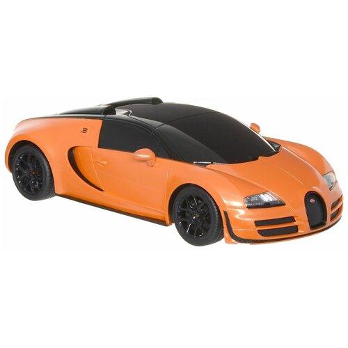 Купить Гоночная машина Rastar Bugatti Veyron Grand Sport Vitesse (53900) 1:18 оранжевый, Радиоуправляемые игрушки