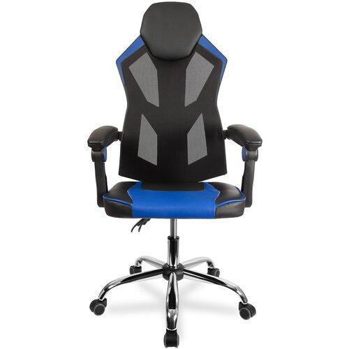 Компьютерное кресло College CLG-802 LXH игровое, обивка: искусственная кожа, цвет: черный/синий