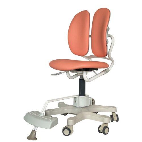 компьютерное кресло duorest kids max детское обивка искусственная кожа цвет светло зеленый Компьютерное кресло DUOREST Kids MAX детское, обивка: искусственная кожа, цвет: MILKY CORAL