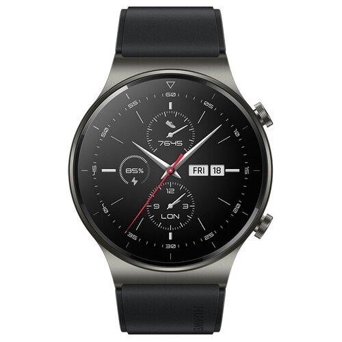 Умные часы HUAWEI WATCH GT 2 Pro (Фторэластомер), черная ночь умные часы huawei watch gt active dark green