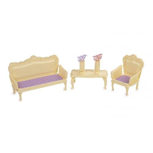 Фото - Мебель для кукол Огонек Маленькая принцесса, (лимонная) (С-1526) ванная комната для куклы огонек маленькая принцесса