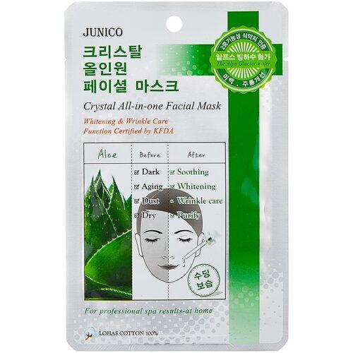 Купить Junico тканевая маска Junico Crystal All-in-one с алоэ, 25 г
