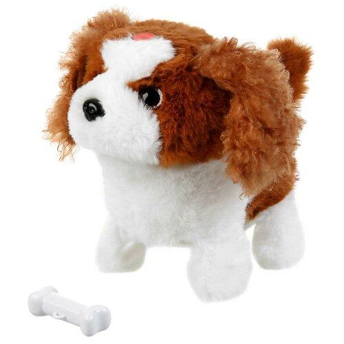 Фото - Интерактивная мягкая игрушка Мой питомец щенок Джой, белый/коричневый интерактивная мягкая игрушка mioshi active весёлый щенок mac0601 006 белый
