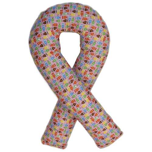 Фото - Подушка Body Pillow для беременных U холлофайбер, с наволочкой из хлопка розовый в совятах подушка body pillow для беременных u холлофайбер с наволочкой из хлопка коричневый с бежевыми вензелями