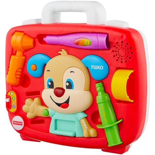 Интерактивная развивающая игрушка Fisher-Price Смейся и учись. Медицинский осмотр Ученого Щенка (FTC79), разноцветный