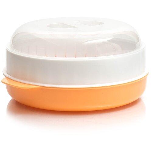 Фото - Пароварка для СВЧ ПОЛИМЕРБЫТ 4385000, белый / оранжевый пароварка 18 см