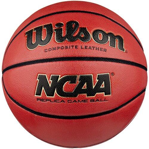 Баскетбольный мяч Wilson NCAA Replica Comp Defl, р. 7 коричневый
