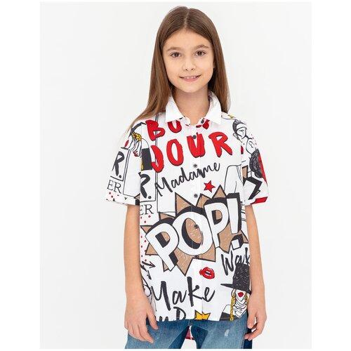Рубашка Gulliver размер 158, белый