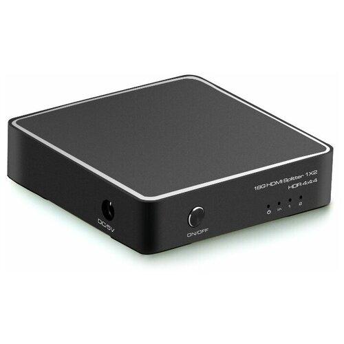 Разветвитель HDMI v2.0 1 на 2 выхода 4K 60Hz / 1080p 120Hz 4:4:4 GCR разветвитель hdmi spliitter 1 2 2 0v 4k 60hz vcom