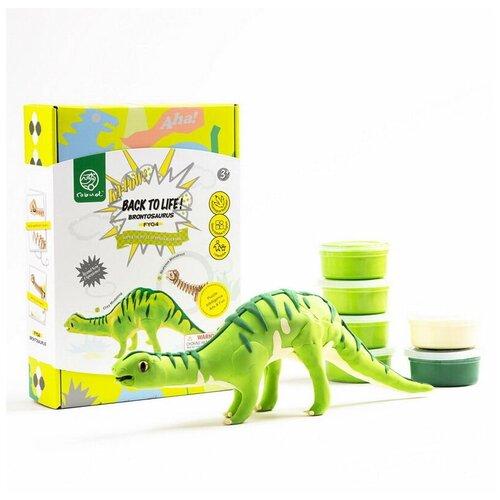 Купить Набор для творчества Robotime Мой личный динозавр! Бронтозавр деревянный конструктор + лепка, Сборные модели