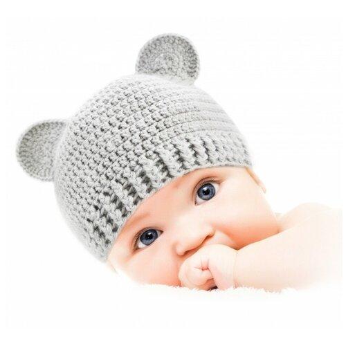 Купить Шапочка для детей и новорожденных от 0 до 3 лет Мишка (набор для вязания) 2, Викидс, Наборы для вязания