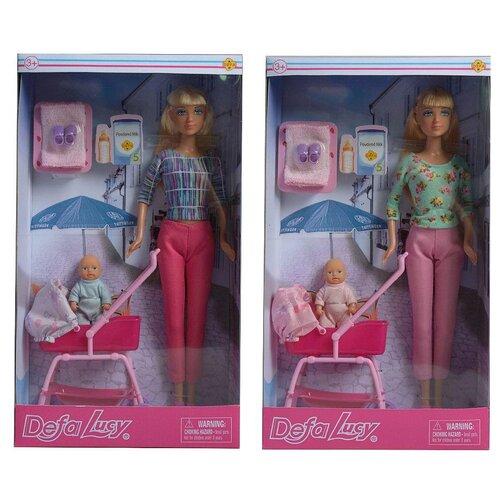 Купить Кукла Defa. Lucy На прогулке с малышом, 2 вида в ассортименте, Куклы и пупсы