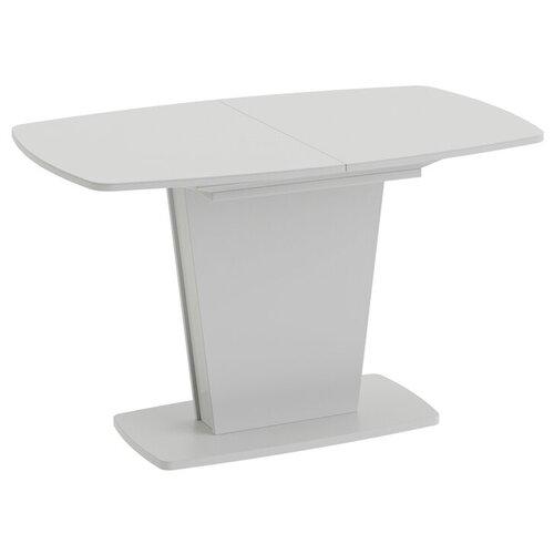 Стол кухонный ТриЯ Честер тип 2, раскладной, ДхШ: 130 х 80 см, длина в разложенном виде: 170 см, белый/стекло белый глянец стол кухонный трия т1 раскладной дхш 23 2 х 80 см длина в разложенном виде 160 см венге цаво