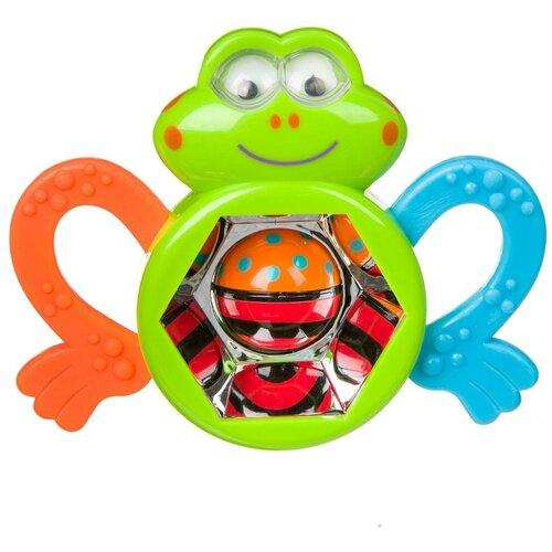 Прорезыватель-погремушка BONDIBON Baby You Лягушка ВВ3923 зеленый/оранжевый/голубой недорого