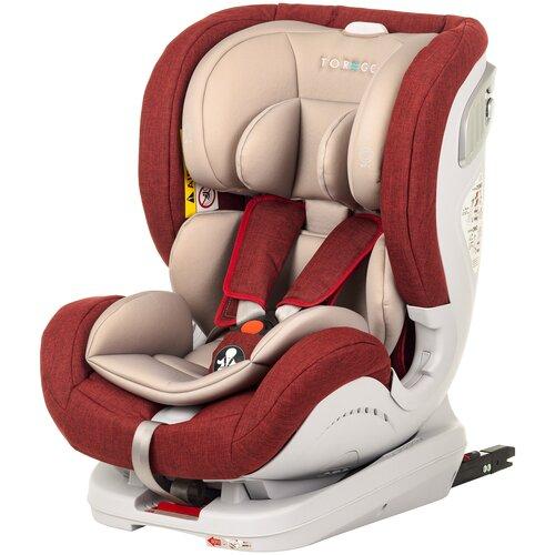 Автокресло группа 0/1/2 (до 25 кг) TOREGO Drive Isofix, красный/лен автокресло colibri группа 0 цвет красный