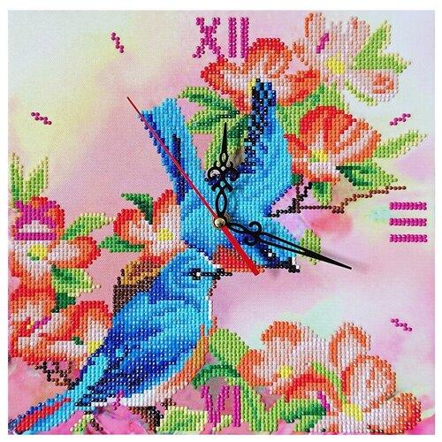 Фото - Color Kit Набор алмазной вышивки с часовым механизмом Райские птички (7303014) 30х30 см color kit набор алмазной вышивки с часовым механизмом две стихии 7303013 30х30 см
