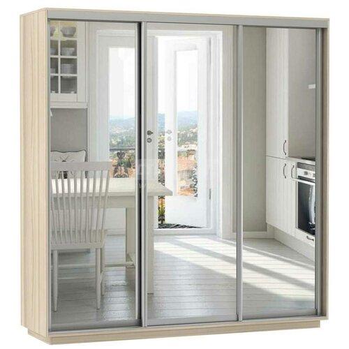 Шкаф-купе для одежды Е1 Экспресс Экспенс Трио, (ШхГхВ): 210х60х220 см, ясень шимо светлый шкафы купе для одежды