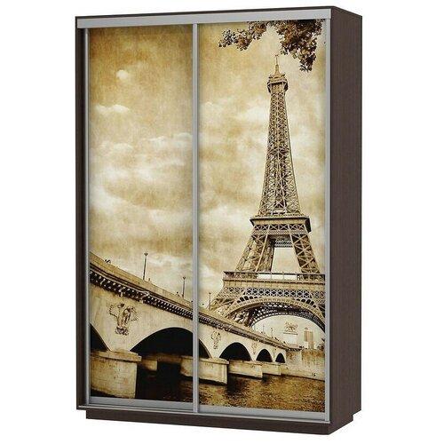 Шкаф-купе для одежды Е1 Экспресс Фото Дуо Париж, (ШхГхВ): 140х60х220 см, венге шкафы купе для одежды