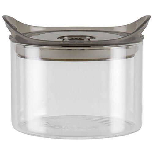 Фото - Nadoba Банка для сыпучих продуктов Otina 0.5 л прозрачный/темно-серый банка для сыпучих продуктов nadoba 741111