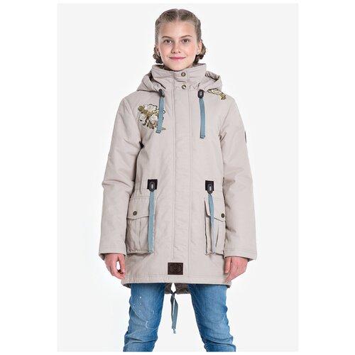 Купить Парка для девочки Talvi 88220, размер 140/68, цвет песочный, Куртки и пуховики
