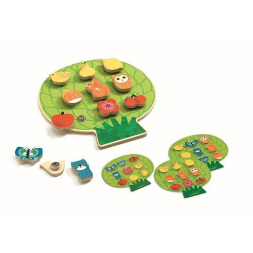 Купить Развивающая игрушка DJECO Clipaclip 1662, зеленый, Развивающие игрушки