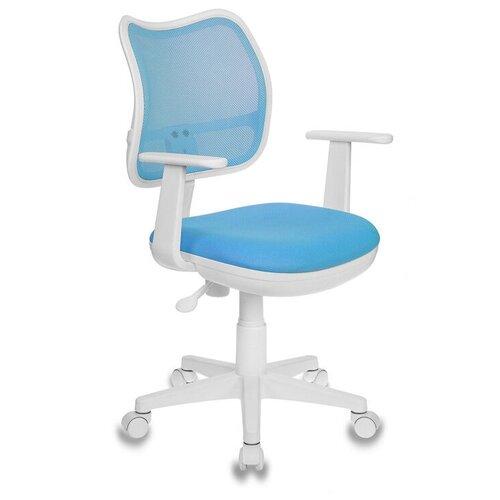 Компьютерное кресло Бюрократ CH-797 детское, обивка: текстиль, цвет: TW-55 голубой компьютерное кресло бюрократ ch w797 abstract детское обивка текстиль цвет мультиколор абстракция