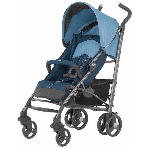 Прогулочная коляска Chicco Lite Way 2 Top, blue прогулочная коляска chicco lite way top aster